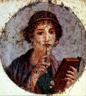 The Woman with the Stylus - Pompeii, Italy Roman